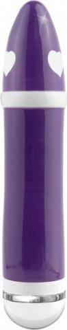 Керамический вибромассажер гладкий с сердечкамиДлина20,3 см, Диаметр: 3,8 см)