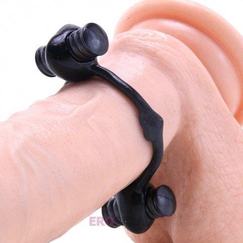 Эрекционное кольцо с двумя вибраторами TLC All Nighter Dual Wireless Cock Ring, фото 2