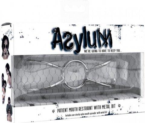 Расширитель для рта Asylum Patient Mouth Restraint белый, фото 2