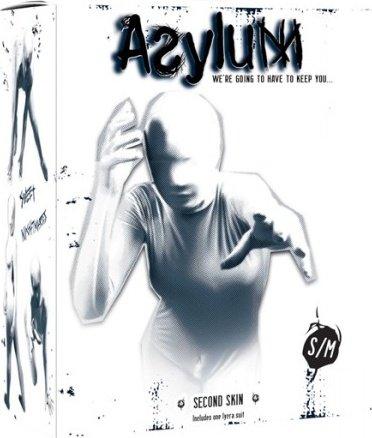 Кэтсьюит Asylum с маской на голову, белый, S/M, фото 2