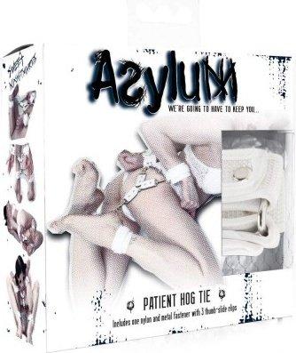 Фиксация крестообразная Asylum Patient Hog Tie для рук и ног белая