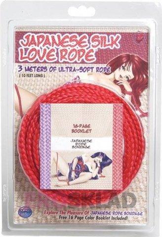 Верёвка из японского шелка Japanese Silk Love 3 м., цвет Красный, фото 2