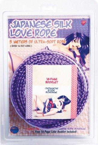 Фиксации Japanese Silk Love Rope, 5 м, фиолетовые