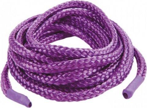 Фиксации Japanese Silk Love Rope, 5 м, фиолетовые, фото 2