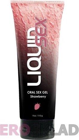 Оральный лубрикант Liquid Sex Oral Sex Gel, 113 г, цвет Клубника, фото 2
