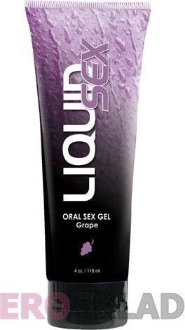 Оральный лубрикант Liquid Sex Oral Sex Gel, 113 г, цвет Клубника, фото 3