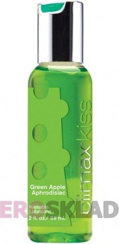 Вкусовой лубрикант Climax Kiss, 59 мл., цвет Зелёное яблоко
