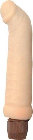 Реалистичный вибратор для точки, цвет Коричневый 14 см
