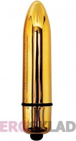 Стильный мини-вибратор Eve After Dark Vibrating Bullet, цвет Золотой, фото 3