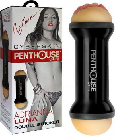 Мастурбатор вагина и анус PenthouseВ Double-Sided Stroker, Adrianna Luna двухсторонний, фото 3