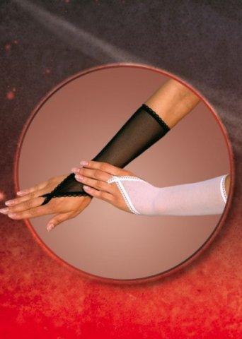 Перчатки с петелькой на один палец белые, фото 2