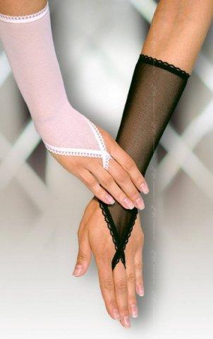 Перчатки с петелькой на один палец белые, фото 4