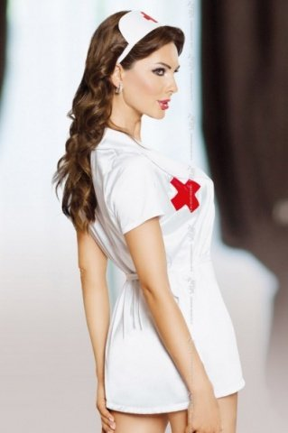 бел `инес` костюм медсестры: халатик, чепчик, фото 2