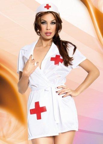 бел `инес` костюм медсестры: халатик, чепчик, фото 3