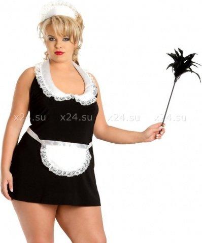 X чер`винона` комбинация- платье горничная в комплекте: чепчик