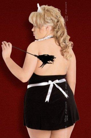 X чер`винона` комбинация- платье горничная в комплекте: чепчик, фото 2