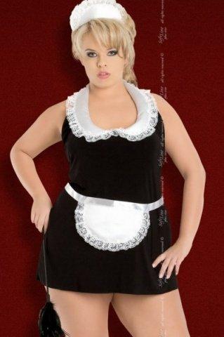 X чер`винона` комбинация- платье горничная в комплекте: чепчик, фото 3