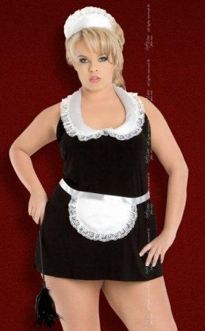 X чер`винона` комбинация- платье горничная в комплекте: чепчик, фото 4