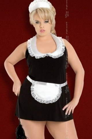 чер`винона` комбинация- платье горничная в комплекте: чепчик, фото 2