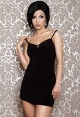 Платье черное вечернее со стразами | Мини платья | Интернет секс шоп Мир Оргазма
