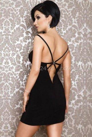 Платье черное вечернее со стразами, фото 2