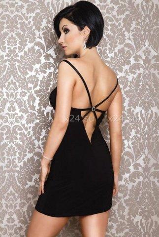 Платье черное вечернее со стразами, фото 3