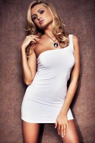 Платье стрейчевое белое, фото 7