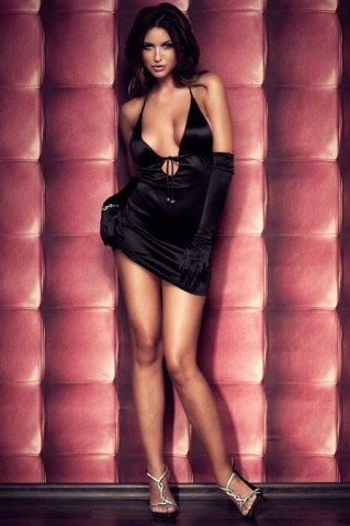 Платье вечернее черное атласное, фото 7