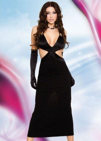 Платье черное-L