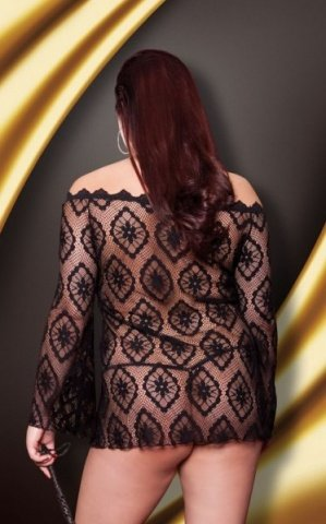 Платье-сетка /чрн/-XXL, фото 2
