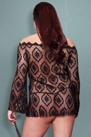 Платье-сетка чрн