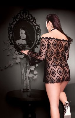 Платье-сетка чрн, фото 3
