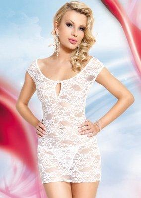 S/m бел сорочка `linley`, цветочное кружево на замочке-брошке