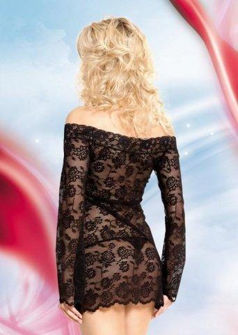 Платье-сетка черное-S/M, фото 2