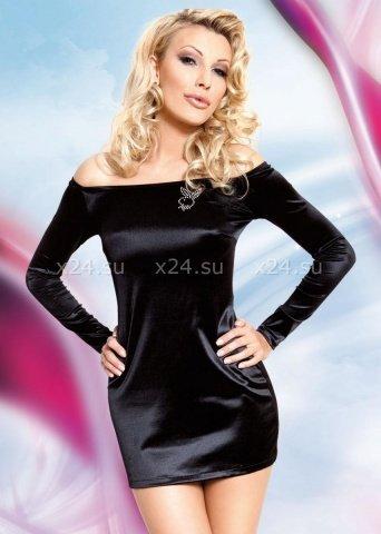Платье черное Play Boy, фото 3