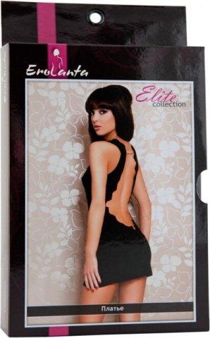 Платье черное стрейчевое с открытой спиной, фото 6