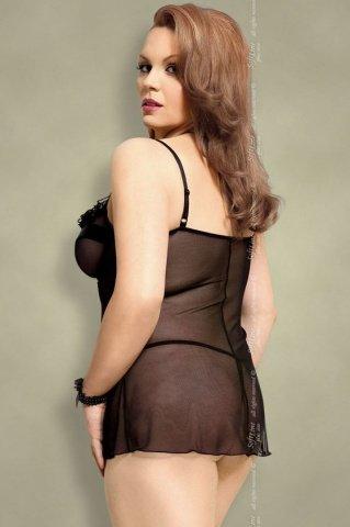 Ночная сорочка и стринги черные-XL, фото 2