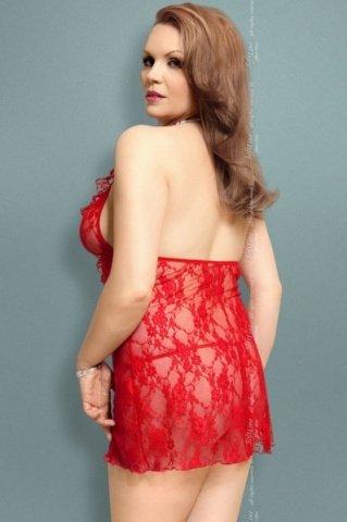 Ночная сорочка и стринги красные, фото 2