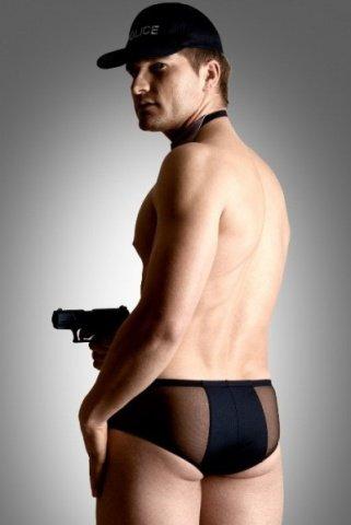 Костюм полицейского мужской (шорты, галстук, кепка)-M/L, фото 2