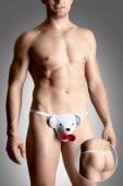 Стринги мужские фантазийные Мишка белые / | Белье и одежда для мужчин | Секс-шоп Мир Оргазма