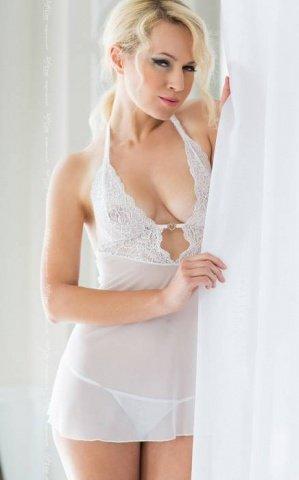Ночная сорочка и стринги белые-M/L, фото 2