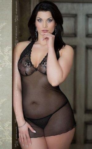 XL черн Комбинация Marilyn + трусики