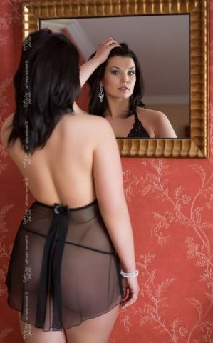 Ночная сорочка и стринги черные, фото 2