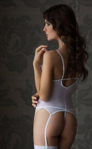 Корсет и стринги белые, фото 2