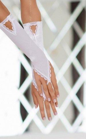Перчатки атласные белые