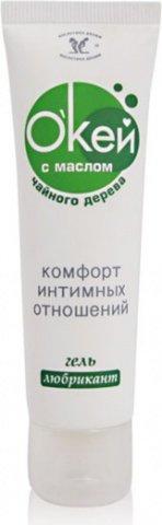 Гель-любрикант ''О'Кей с маслом чайного дерева'' 50 г (10*1) упак, фото 6