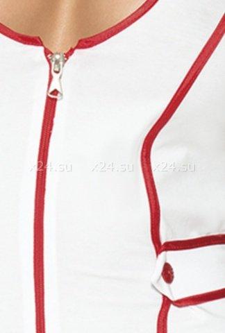 Костюм мед. сестры из 3-х предметов бело-красный-M/L, фото 3