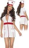 Купить медсестры и доктора. Костюм мед. сестры из 2 ух предметов бело красный. Интим магазин.