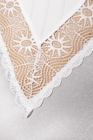 Корсет белый с кружевными вставками + стринги, фото 2