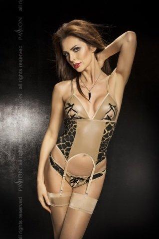 Корсет с леопардовыми вставками + стринги, твоя вторая кожа